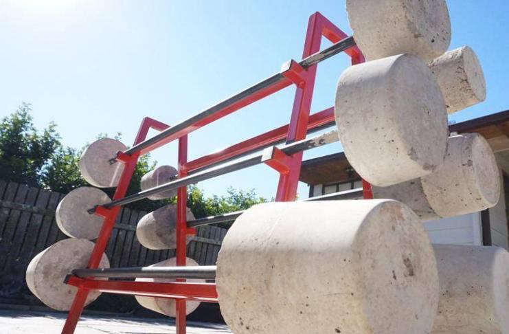 How to Make Homemade Concrete Barbell Dumbbell DIY