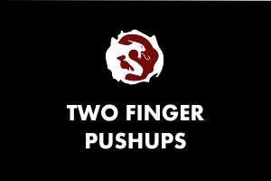 Two finger pushup